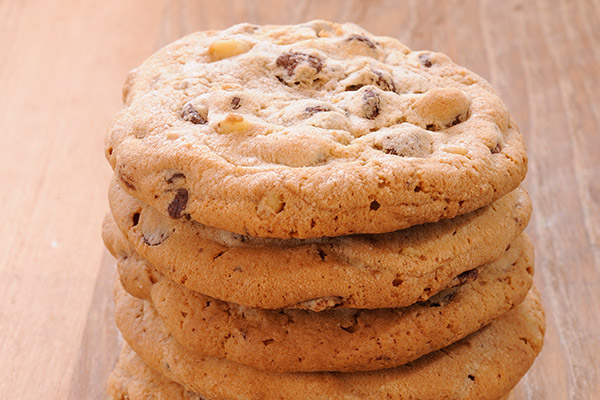 Choc Chip Cookies - stack