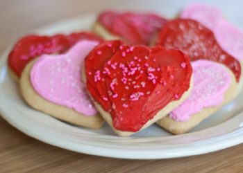 Valentine Cut Out Sugar Cookies